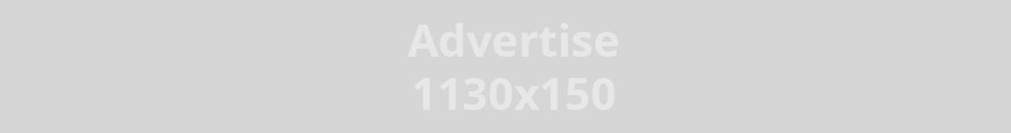 Annonse 1130 x 150 px